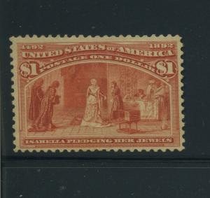 Scott 241 Columbian Unused Hi Value Stamp  (Stock 241-13)