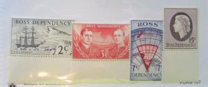 1957 New Zealand Ross Dependency SC #L5-8 MNH stamps