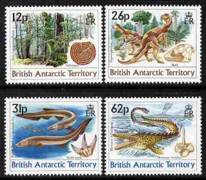 British Antarctic Territory 1991 Age of the Dinosaurs per...