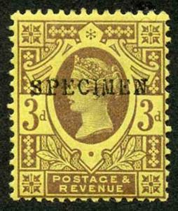 SG202s 3d Jubilee Opt SPECIMEN M/Mint (hinge remainder)