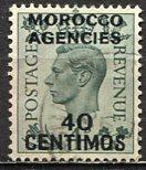 Great Britain Morocco; 1936: Sc. # 87: O/Used Single Stamp