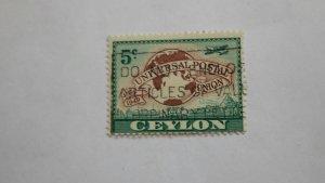 STAMP OF CEYLON USED HINGED SC # 304
