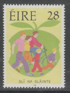 IRELAND SG833 1992 HEALTHY LIVING CAMPAIGN MNH