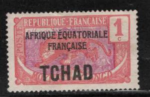Chad TCHAD Scott 19,  MH* overprinted stamp