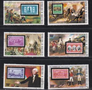 Burkina Faso # 352-357, U.S. Bicentennial, Stamp on Stamp, CTO