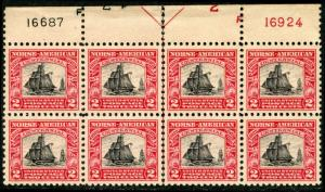 #620 XF OG NH FULL TOP PLATE BLOCK BL8947