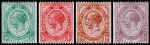 South Africa Scott 17-20 (1913-21) Mint H VF, CV $62.00 C