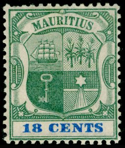 MAURITIUS SG132, 18c Green & Ultramarine, M MINT. Cat £23.