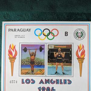 Paraguay C538 XFNH, 1984 Olympics, CV $20