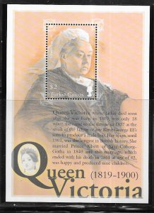 Turks & Caicos Islands #1348  $2 Queen Victoria (MNH) S/S CV$6.00