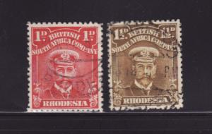 Rhodesia 120a, 121 U King George V