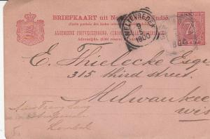 Netherlands Indies Card Sent to US 1900
