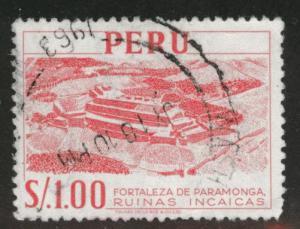 Peru  Scott 488 Used stamp from 1962 set