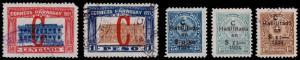 Paraguay Scott L1-L2, L3-L5 (1922, 24) Used/Mint H F-VF B