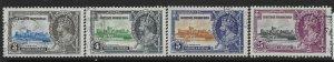 BRITISH HONDURAS SG143/6 1935 SILVER JUBILEE SET USED