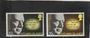 Pitcairn Islands  Scott#  144-5  MH