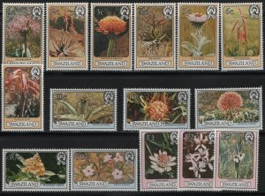 SWAZILAND, 346-360, (15) SET, MNH, 1980, FLOWERS