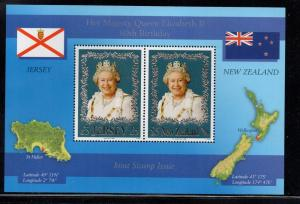 Jersey Sc Sc 1215b NZ 2068 2006 80th B'Day QE II sheet NH