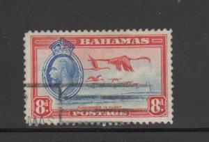 BAHAMAS #96  1935 KING GEORGE VI & FLAMINGOS IN FLIGHT   F-VF USED  b