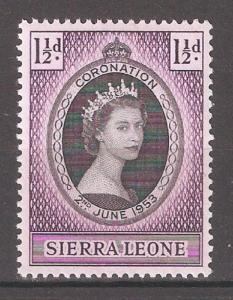 Sierra Leone 1953,QEII Coronation Issue,Sc # 194,VF MNH**