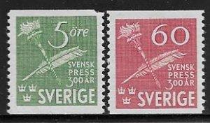 Sweden 361 mnh  2018 SCV $7.00  - 360 not counted, corner fault - 12457
