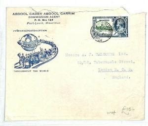 MAURITIUS Port Louis GB London Cover 1935 {samwells-covers} CW246