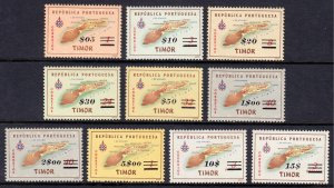 Timor - Scott #291-300 - MNH - Some toning, disturbed gum - SCV $7.55