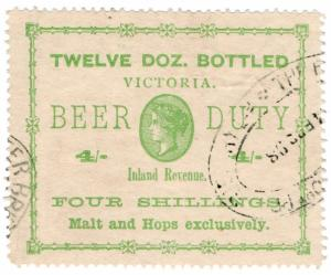 (I.B) Australia - Victoria Revenue : Beer Duty 4/-
