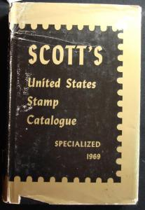 1969 Used Scott US Stamp Catalogue Specialized Edition