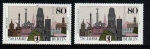Germany Berlin  1496 + 9n536  MNH cat $ 4.00