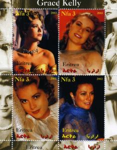 Eritrea 2003 Grace Kelly Sheet Perforated mnh.vf