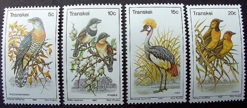 1980 Birds MNH Stamps from South Africa (Transkei)