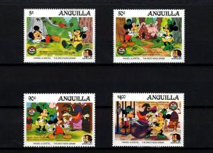 ANGUILLA - 1985 - DISNEY - CHRISTMAS - HANSEL & GRETEL - GRIMM - MINT - MNH SET!
