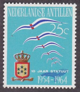 Netherlands Antilles # 289, Flags, Crest & Map, Hinged, 1/3 Cat.