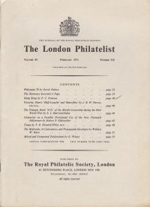 The London Philatelist: Vol. 80, Number 938,