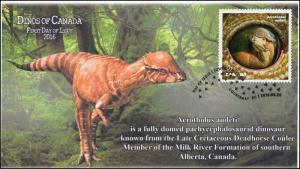 2016, Canada FDC, Dinos of Canada, Acrotholus audeti, 16-013