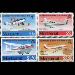 MONTSERRAT 1981 - Scott# 472-5 Planes Set of 4 NH