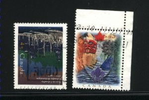 Canada #1613-14   -4    used VF 1996  PD
