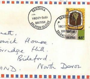 British Solomon Islands Yandina GB Airmail Cover {samwells-covers}PTS 1977 HH210