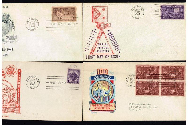 US STAMP FDC COLLECTION LOT (10 COVERS)