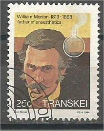 TRANSKEI, 1981, used 25c, William Morton. Scott 106