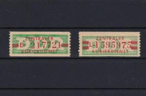 DDR 1959 CENTRAL COURIER SERVICE STAMPS   MINT NEVER HINGED  CAT £34  REF 5421