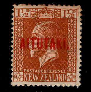 Aitutaki Cook Islands Scott 22 MH* Overprint toned at top