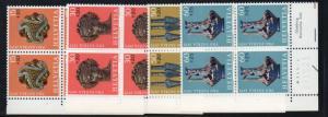 Switzerland Sc B414-17 1971 Pro Patria stamp set mint NH Blocks of 4