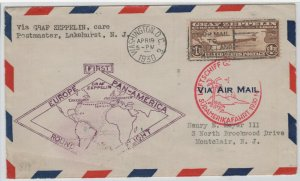 #C14 Airmail, 1930, $1.30 Graf Zeppelin, First Day Cover - SEE DETAILS (GD 6/26)