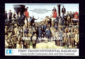 Isle of Man 518 MNH 1992 Railroad S/S