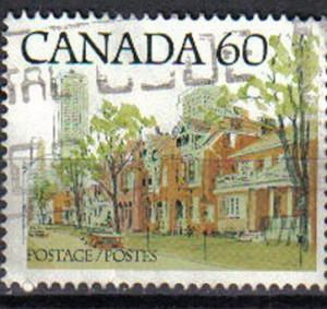 CANADA, 1982 used 60c. Ontario Street Scene , ?The Red Brick House?