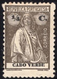 Cape Verde 173 - Unused-NG - 1/4c Ceres (Perf 12x11.5) (1920)