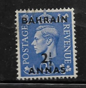 BAHRAIN, 56, USED,GREAT BRITAIN STAMPS SURCHD