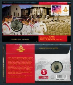 [76080] Australia 2011 Centenary RMC Duntroon Commemorative Coin Cover